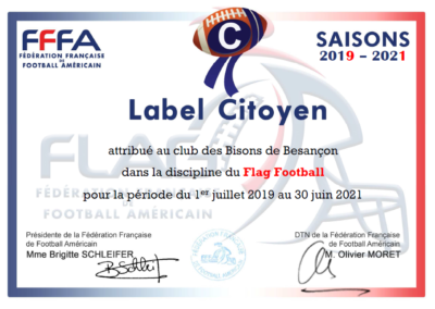 Label citoyen Flag Football