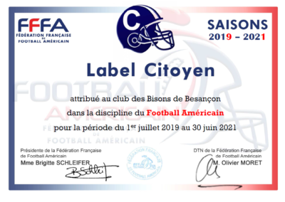 Label citoyen Football Américain