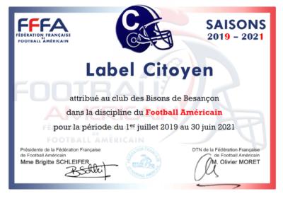 Label citoyen Football Américain